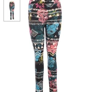 Lularoe Leggings  soft and comfy floral one size